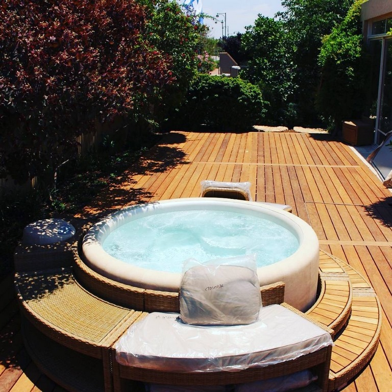 Softub hot tub garden feature
