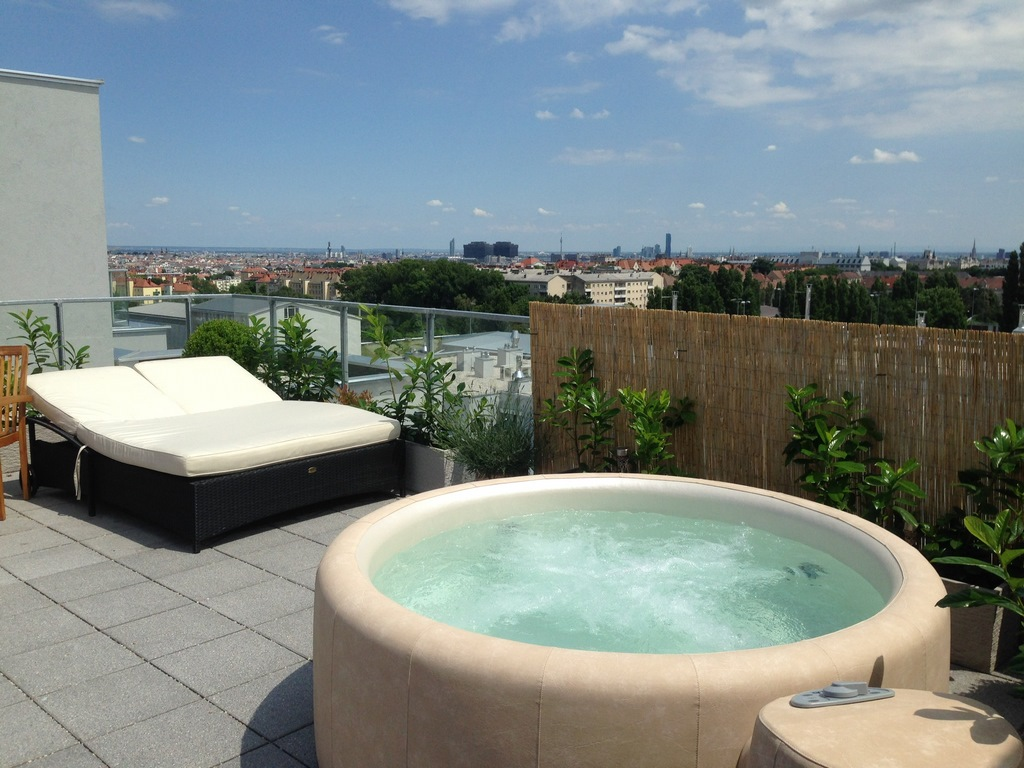 Softub hot tub on your roof terrace